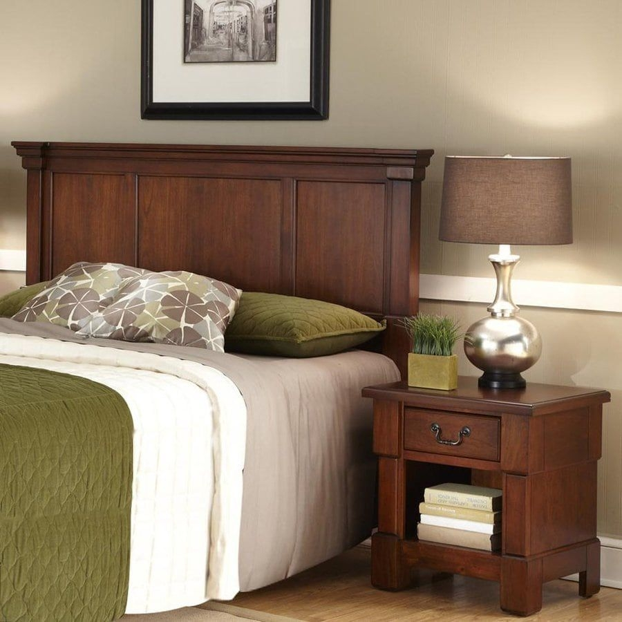Home Styles Aspen Rustic Cherry Fullqueen Bedroom Set At Lowes