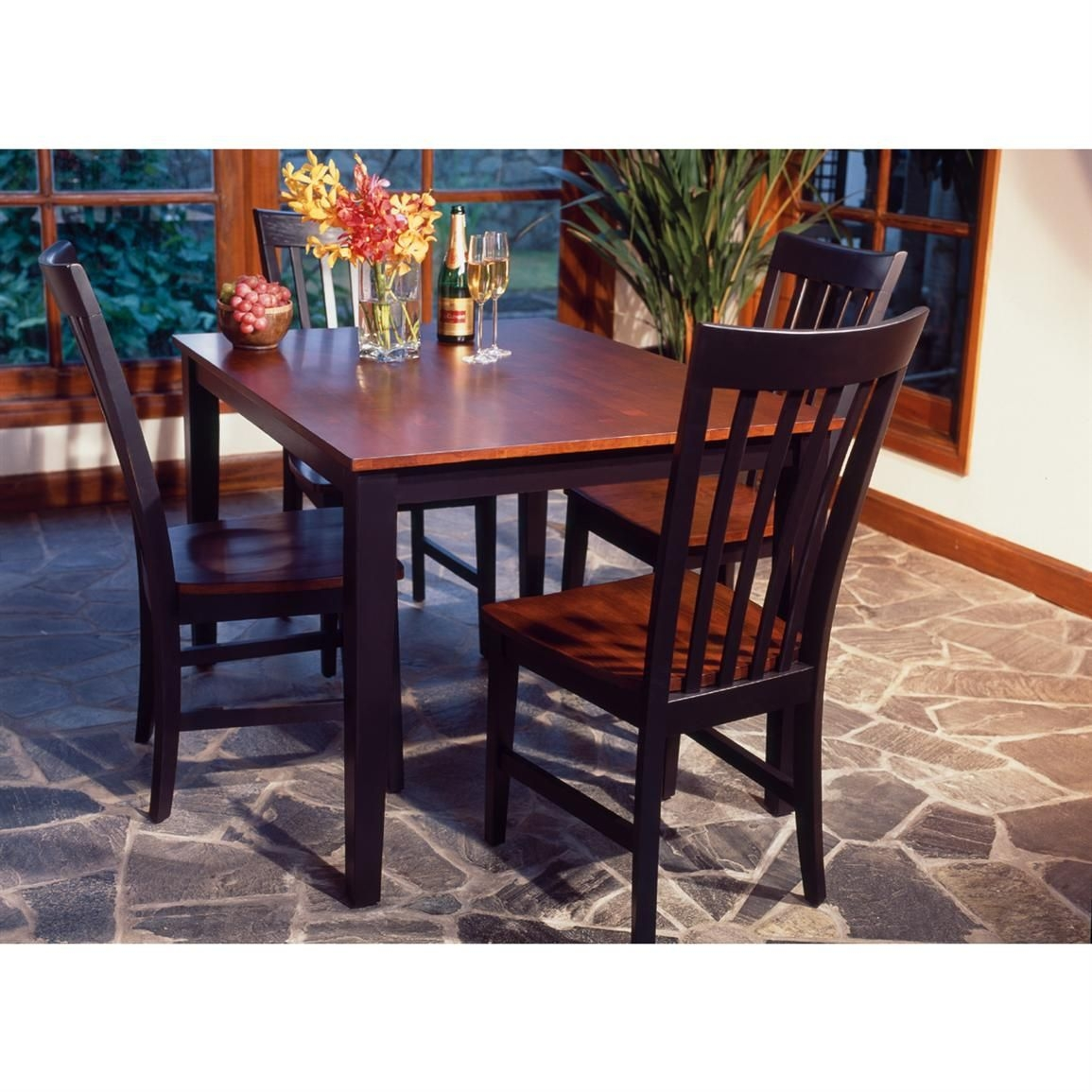 Home Styles™ Rectangular Dining Table With 4 Chairs Black  Cherry  39786 Kitchen  Dining
