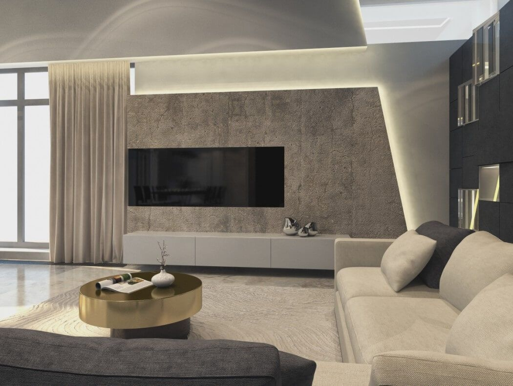 House In Moscowshamsudin Kerimov  Tv Unit Design Living Room Tv Unit Living Room Designs
