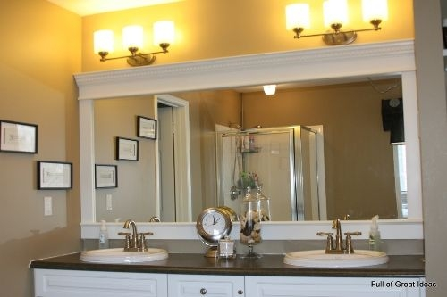 How To Decorate A Large Plain Bathroom Mirror 5 Ideas For Unique Look  Home Improvement Day