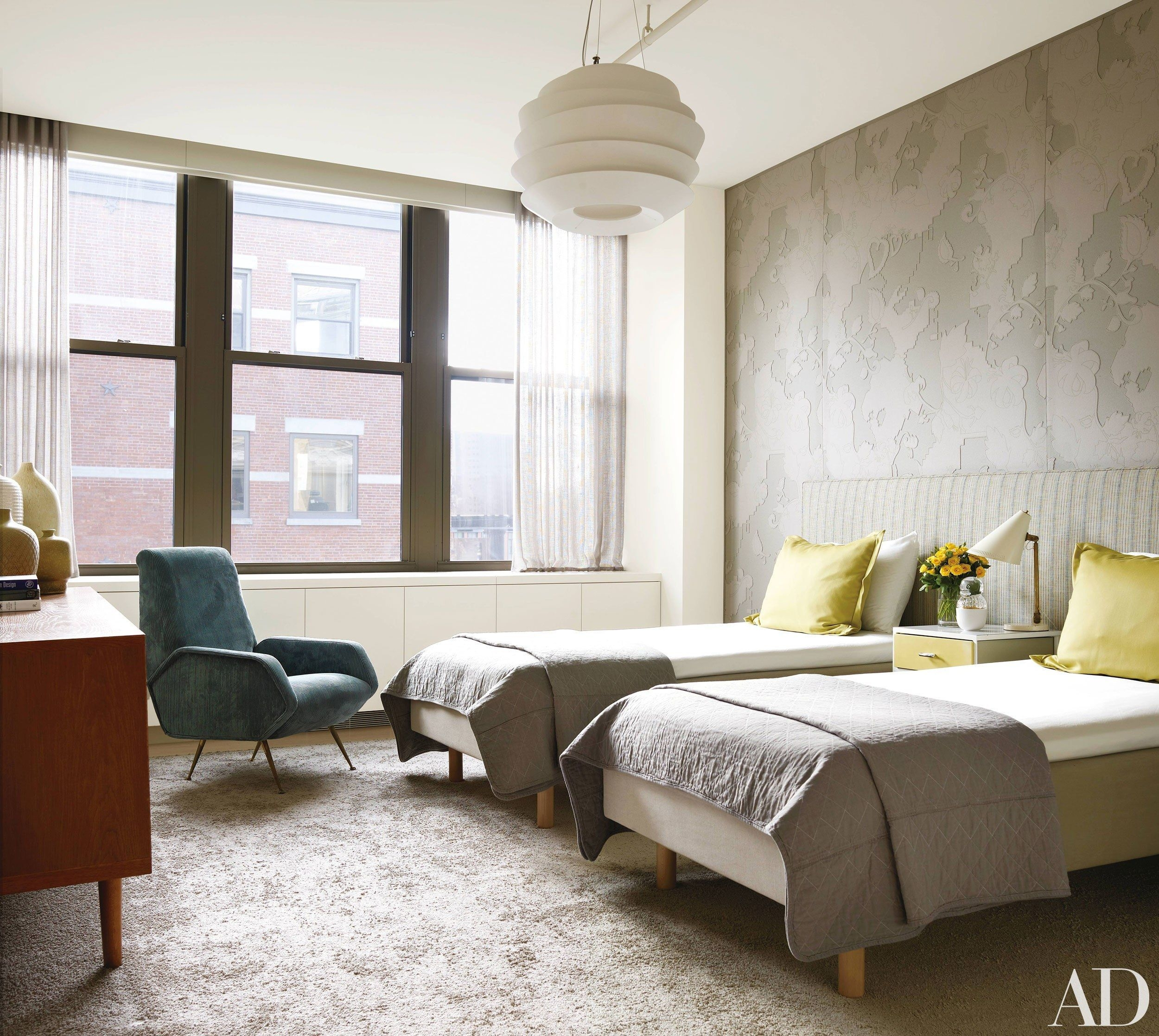 How To Decorate With Twin Beds In 2020  Modern Bedroom Home Decor Interior Design