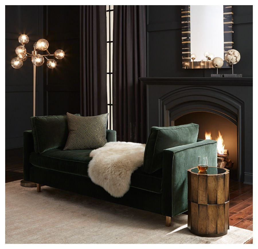 Hunter Lounge Available Online And In Stores]  Black Living Room Dark Living Rooms Moody