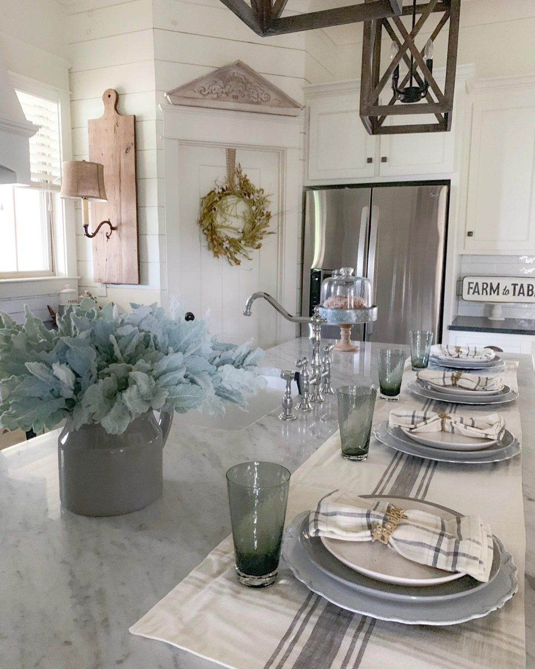 Ideas For Setting The Table From The Kirkland'S Insiders  Farmhouse Table Runners Kirkland