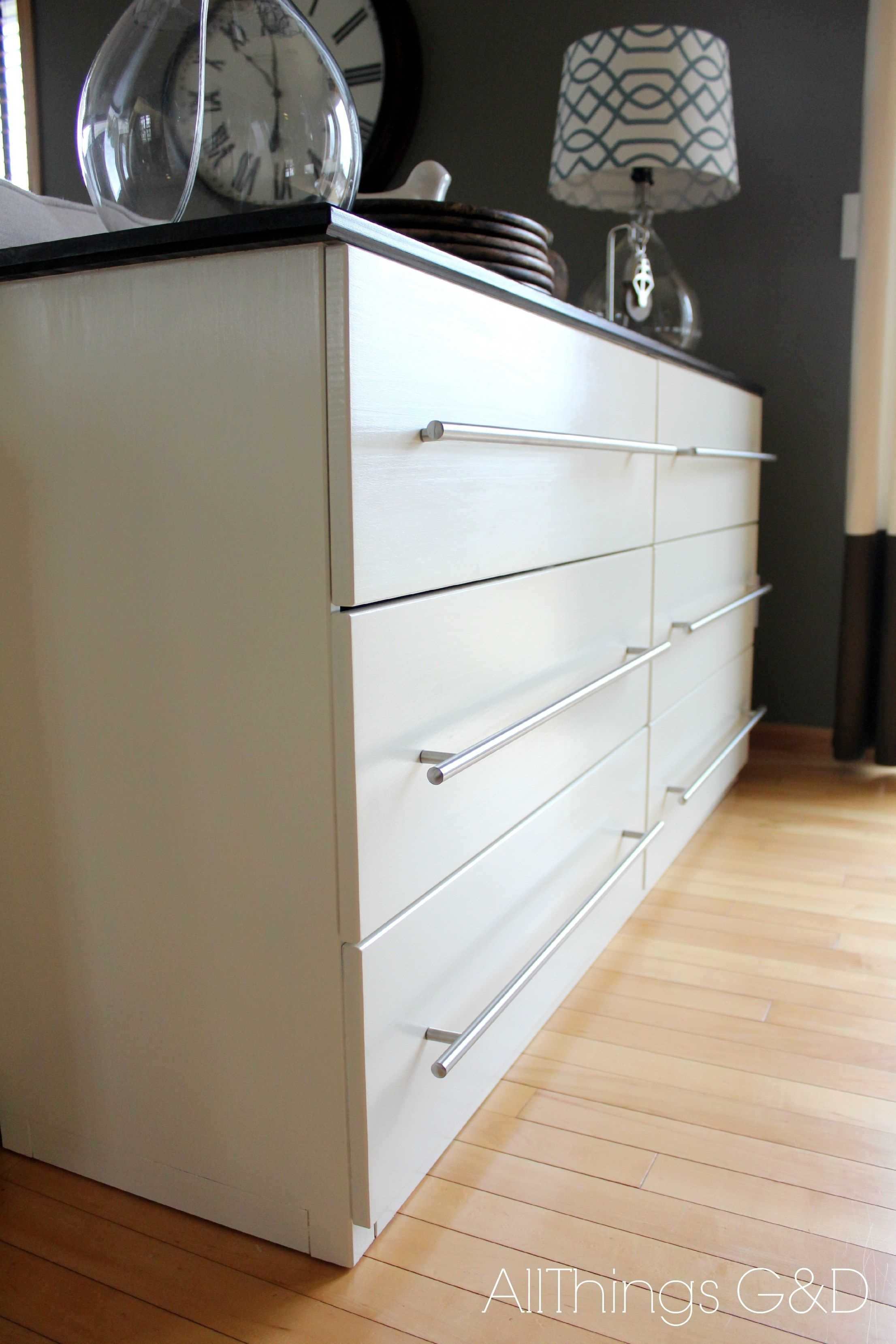 Ikea Tarva Transformed Into A Kitchen Sideboard  All Things Gd