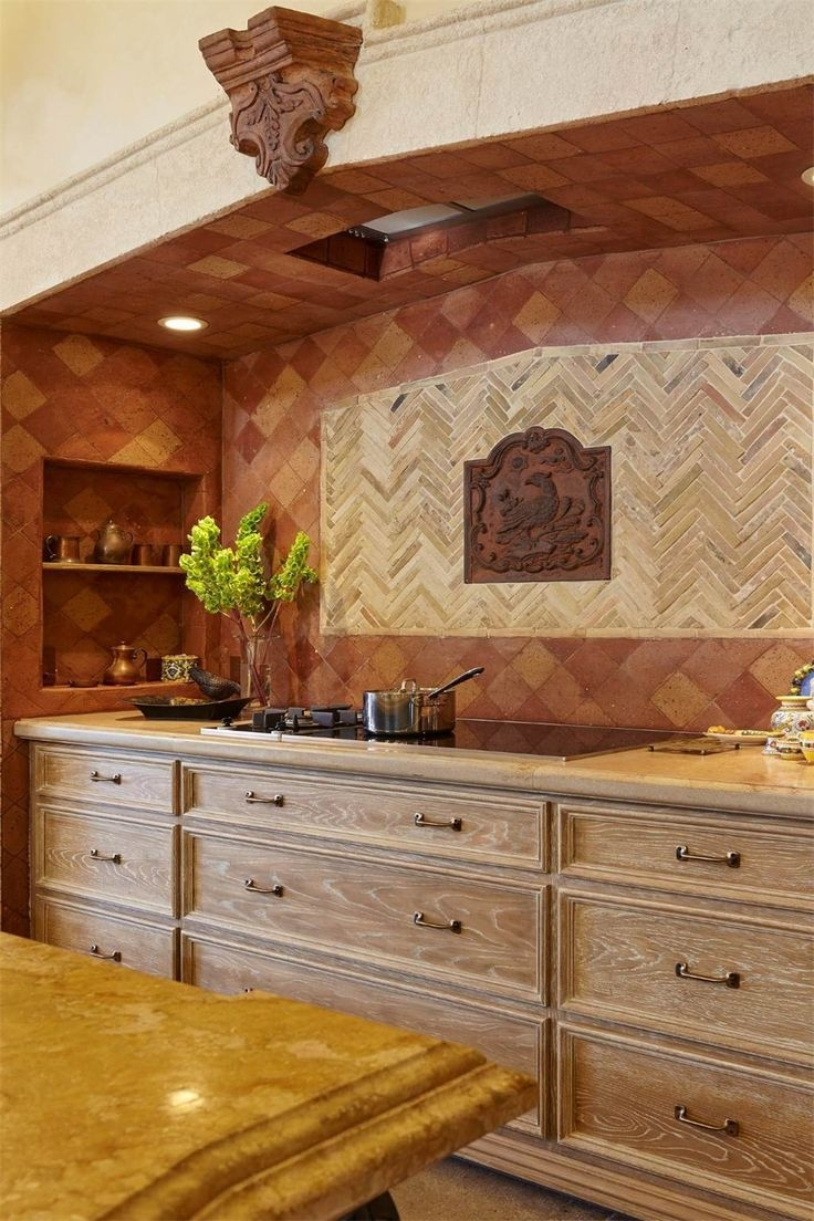 Induction Cooktop With Fumed Oak Cabinets In The Kitchen Of Mediterranean Style Glen Ellen Wine