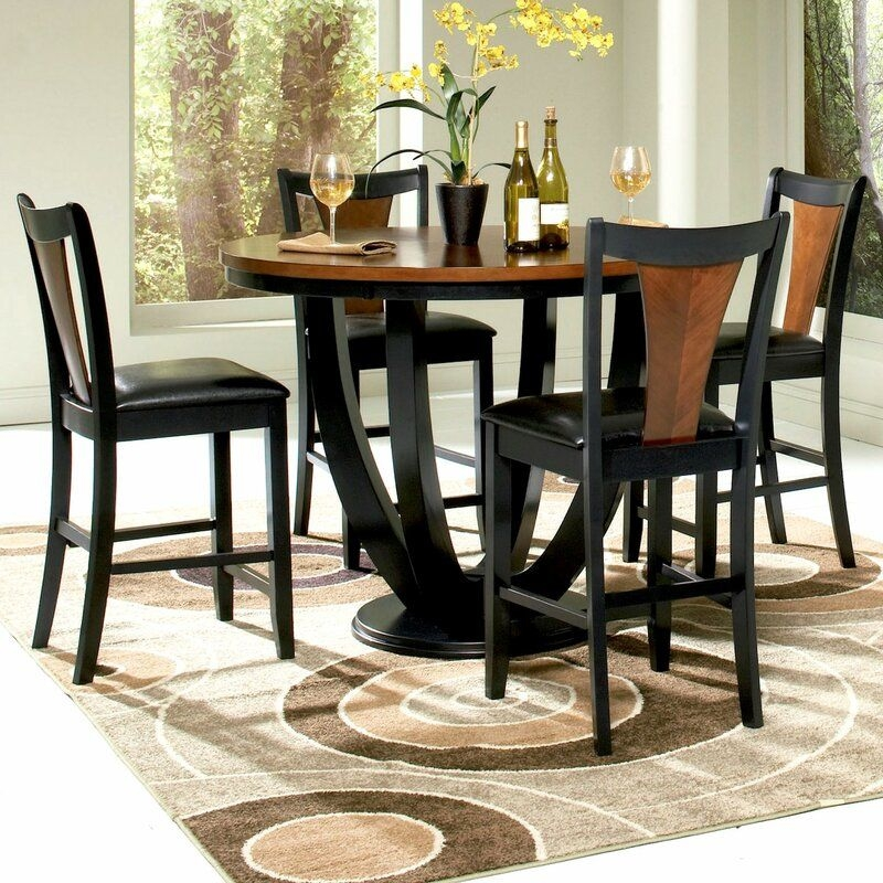 Infini Furnishings Mayer 5 Piece Counter Height Dining Set  Reviews  Wayfair