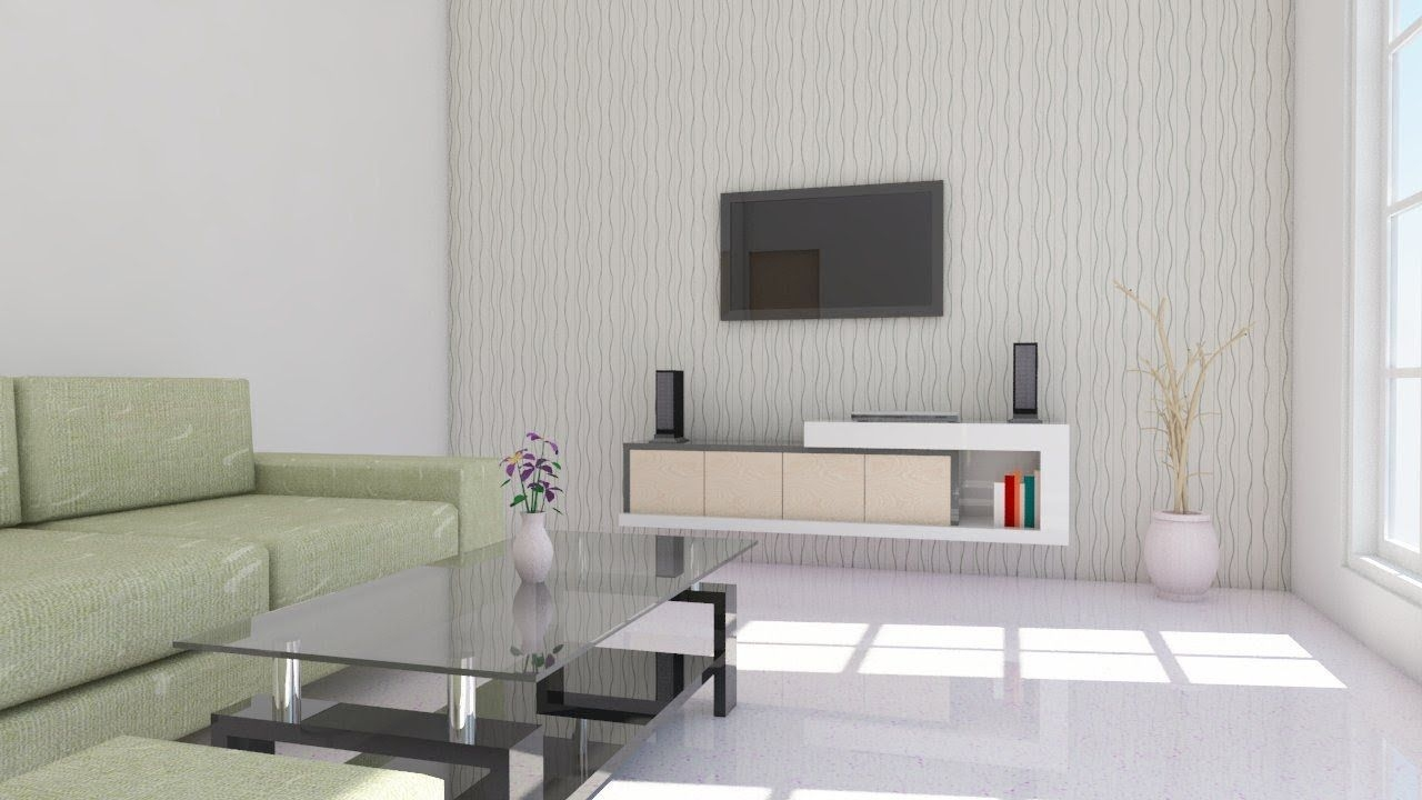 Interior Design Using Google Sketchup  Living Room   Youtube