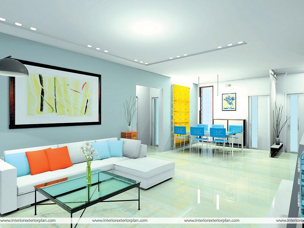 Interior Exterior Plan  Multicolored Living Room