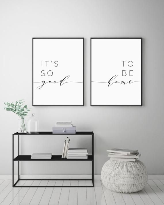 It'S So Good To Be Home Printable Sign Set Bedroom Quote Decor Living Room Wall Art Prints