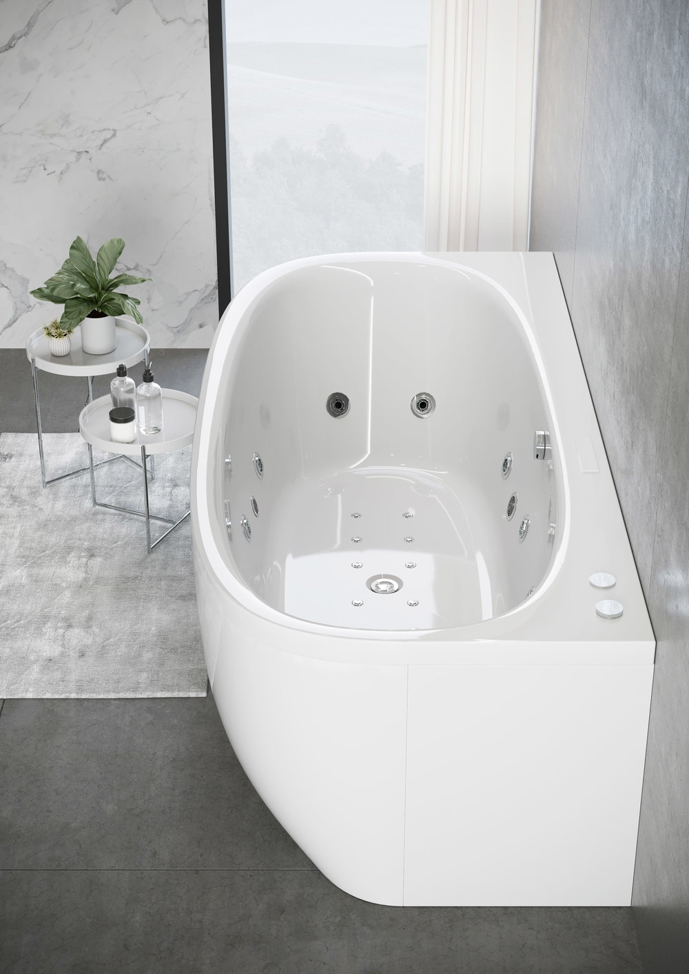 Jaquar Bathroom Bathtub Watermassage Whirpool Freestanding Arc Product Design