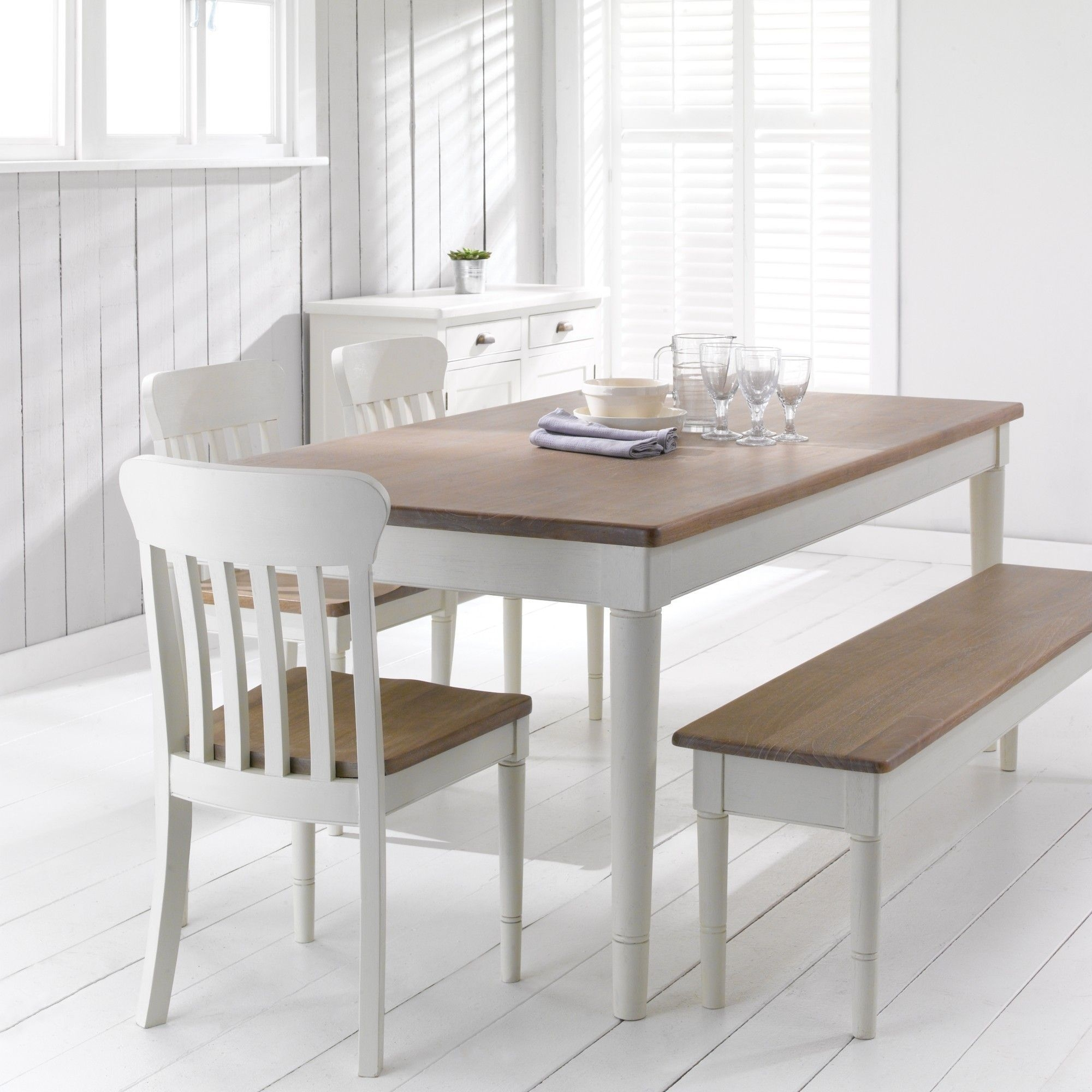 John Lewis  Partners Drift Rectangular 6 Seater Dining Table Cream  6 Seater Dining Table