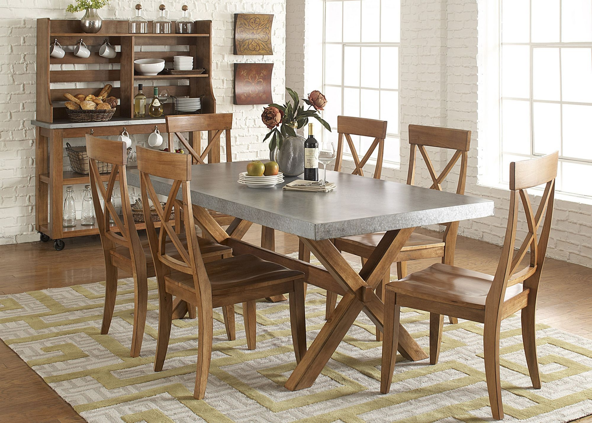 Keaton Rectangular Trestle Dining Room Set  Liberty Furniture  Home Gallery Stores  Dining