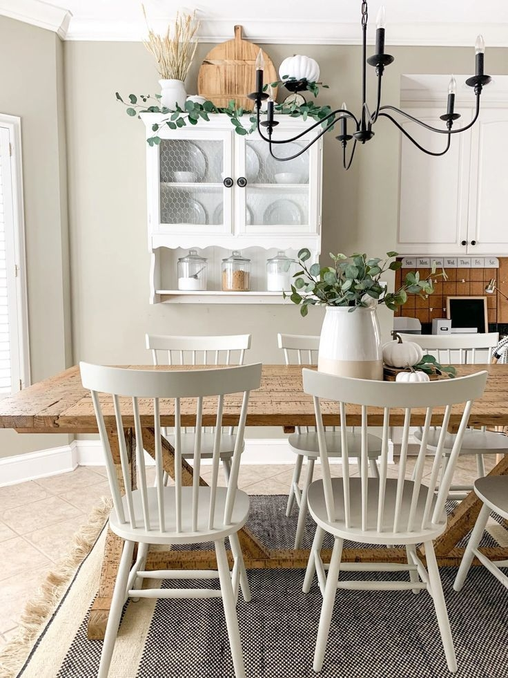 Kitchen Eating Area Refresh With Overstock Phase 1  Kitchen Eating Areas Modern Farmhouse