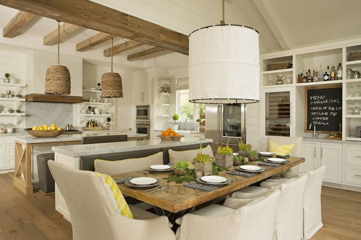 Kitchen Island Bench  Transitional  Dining Room  Eric Olsen Design