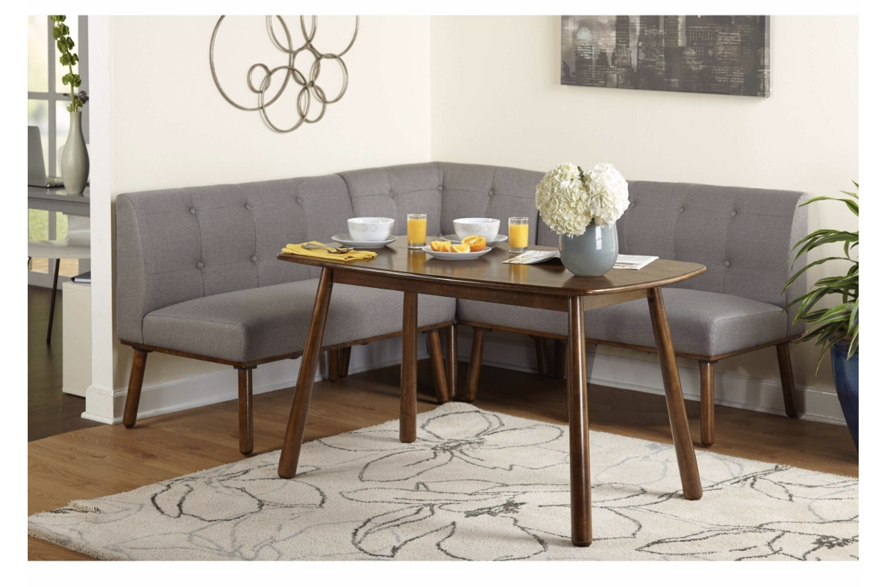 Kitchen Nook Dining Set Mid Century Modern Mod Corner Tufted Table Chairs  Dining Sets