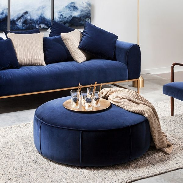 Kits Cascadia Blue Sofa  Blue Living Room Decor Blue Gold Living Room Royal Blue Sofa