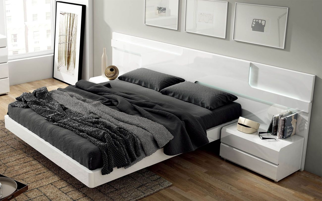 Lacquered Made In Spain Wood Modern Platform Bed With Extra Storage Baltimore Maryland Esfsar