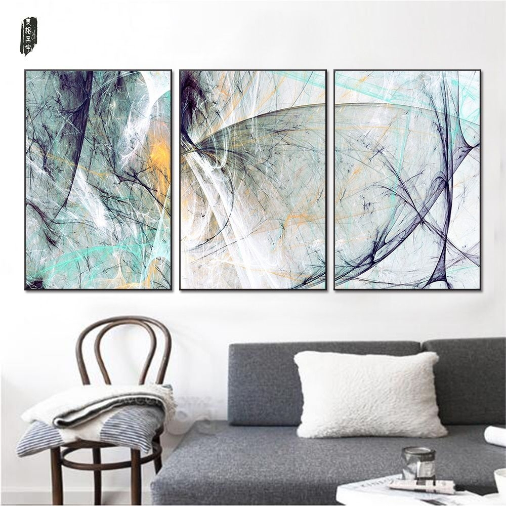 Landscape Abstract Canvas Paintings Modern Wall Art Poster Prints Nordic Pictures Living Room