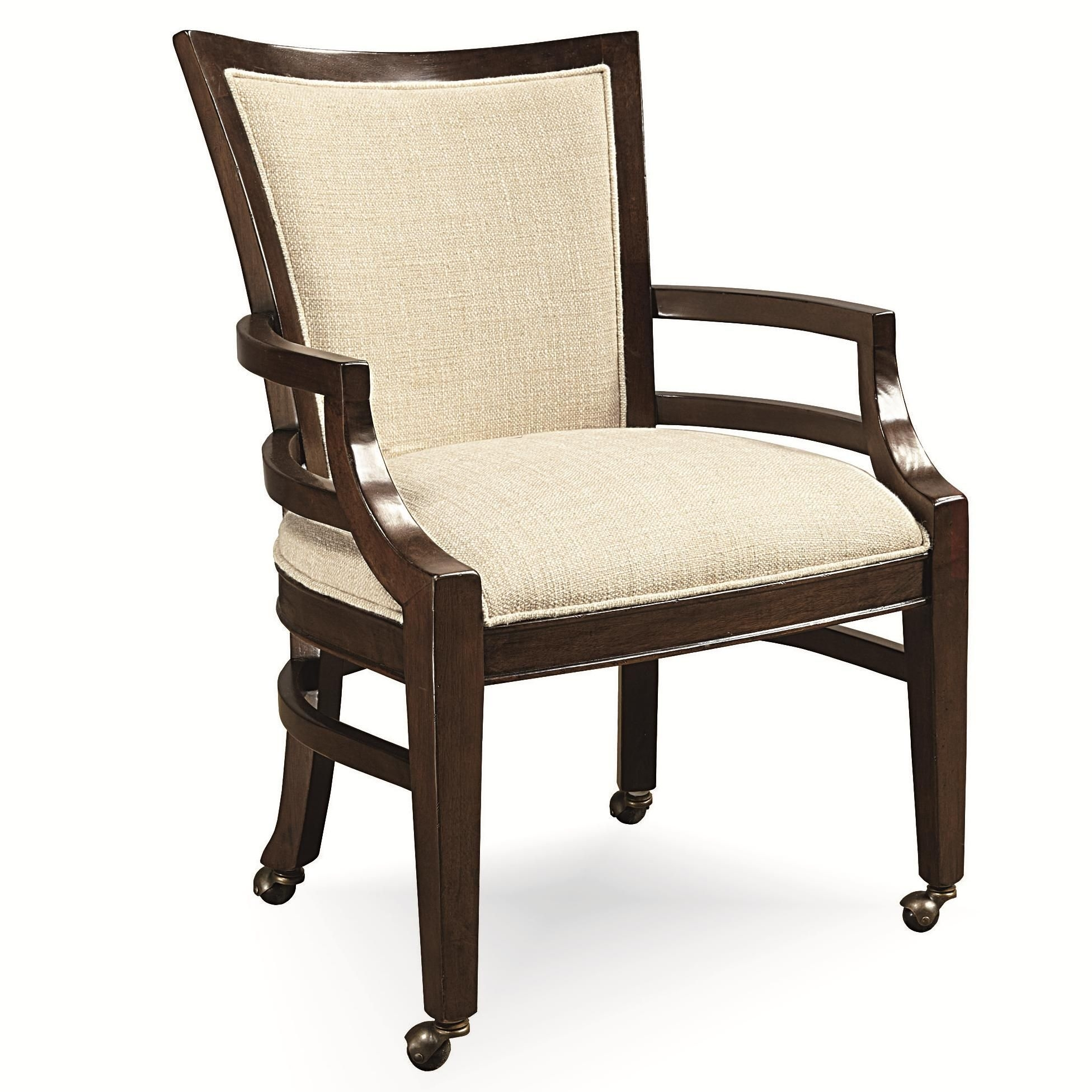 Latitude Dining Chair Wcastersuniversal With Images  Upholstered Dining Chairs Dining
