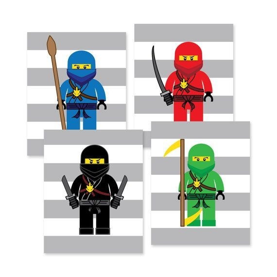Lego Ninjago Wall Art Prints Lego Bedroom Wallamysdesignshoppe In 2020  Lego Bedroom Lego