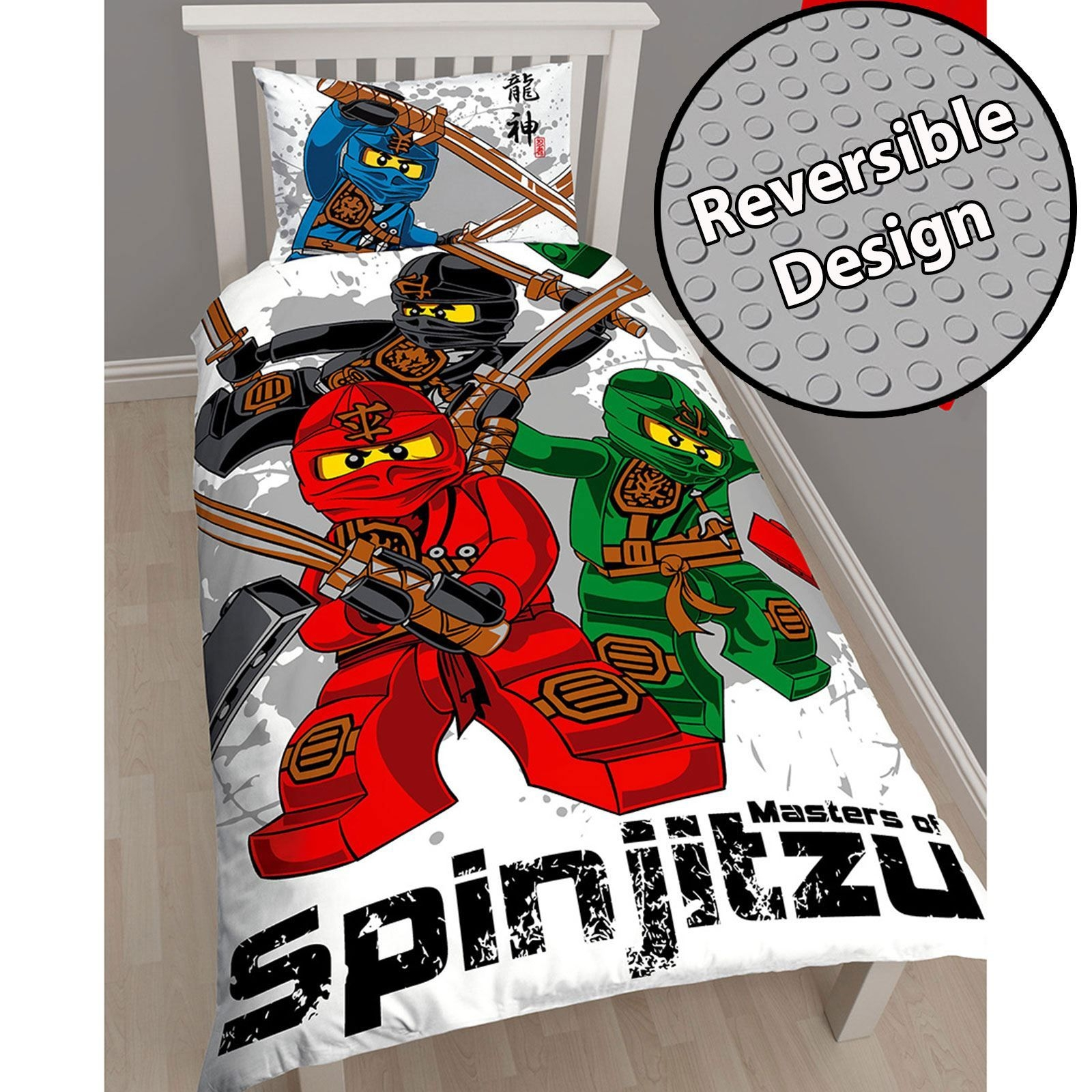 Lego Ninjago Warrior Single Duvet Cover  Pillowcase Set Official Kids Bedding  Ebay