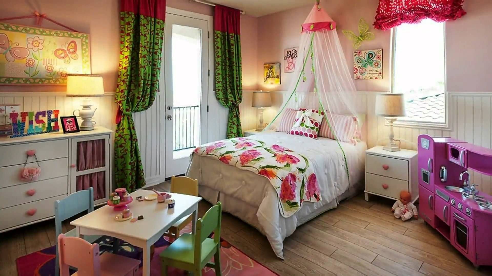 Little Girl Bedroom Ideas And Adorable Canopy Beds For Toddler Girls  Involvery