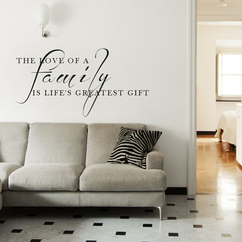 "Love Family Gift Living Room Wall Art Decal Quote Words Lettering Decor 36""  Ebay"