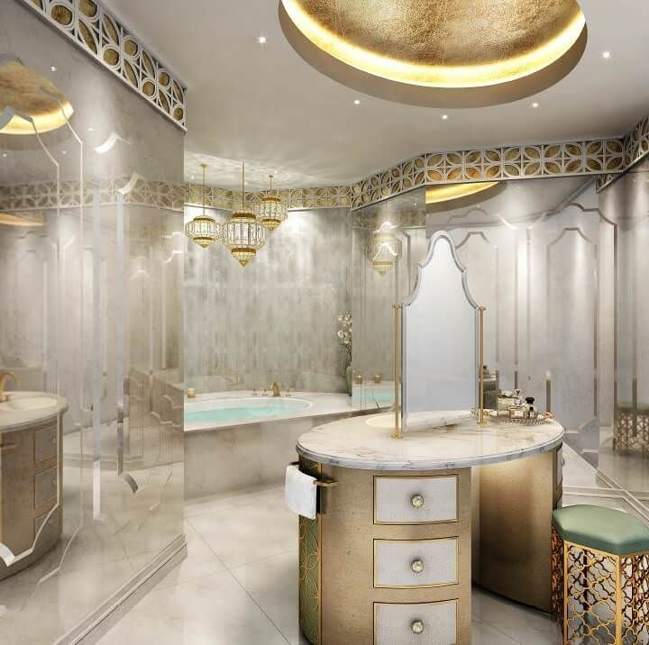 Luxury Modern Bathroom Interior Design Dubai Uae  Mouhajer International Design