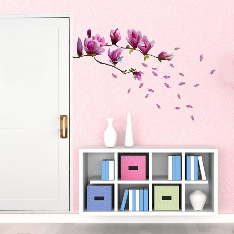 Magnolia Wall Sticker In 2020  Flower Wall Flower Wall Stickers Magnolia Flower
