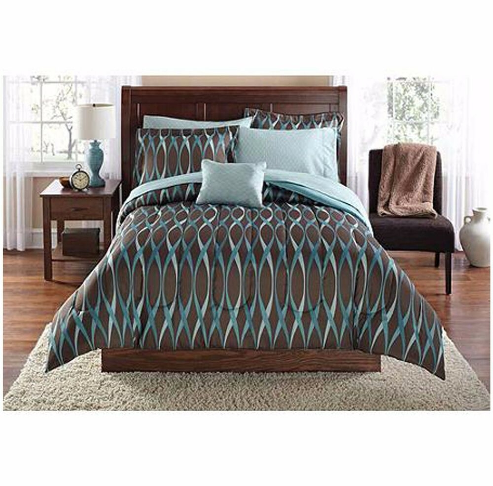 Mainstays Bedding Set Modern Comforter Pillow Case Quilt Twin Xl Size Bedroom  Ebay