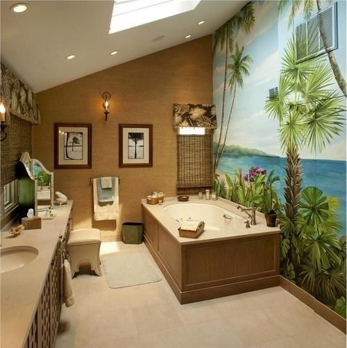 Modern And Popular Tropical Bathroom Designs  Interior Vogue