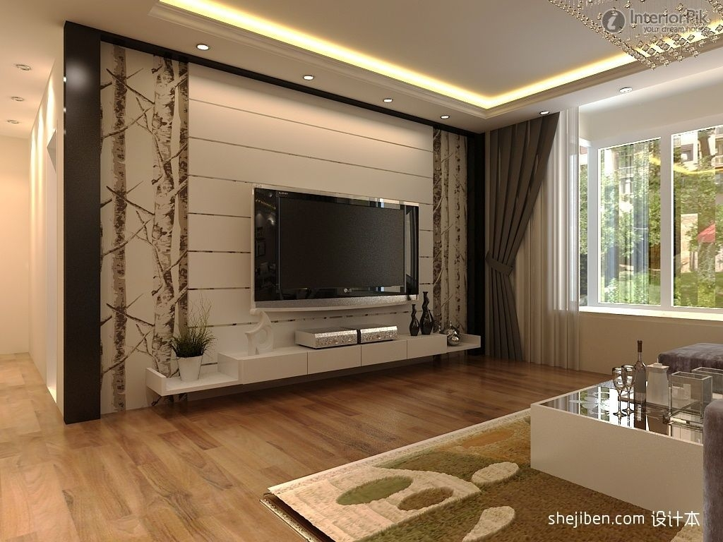 Modern Rendering Of Tv Background Wall Decoration1224  Tv Wall Design Living Room Tv Unit