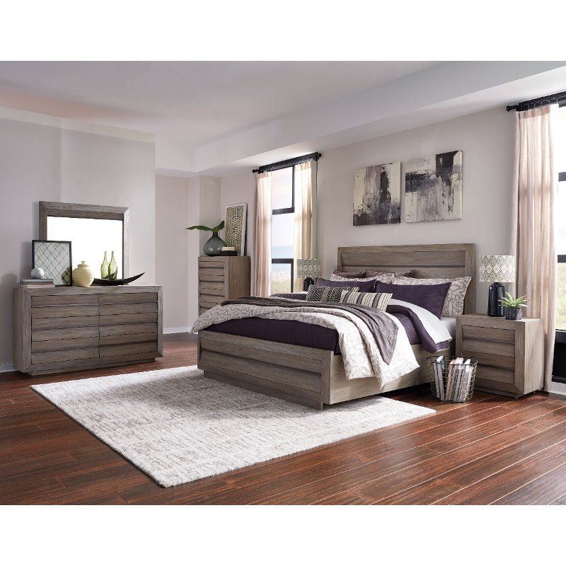 Modern Sandstone 4 Piece King Bedroom Set  Palisade  Rc Willey Furniture Store