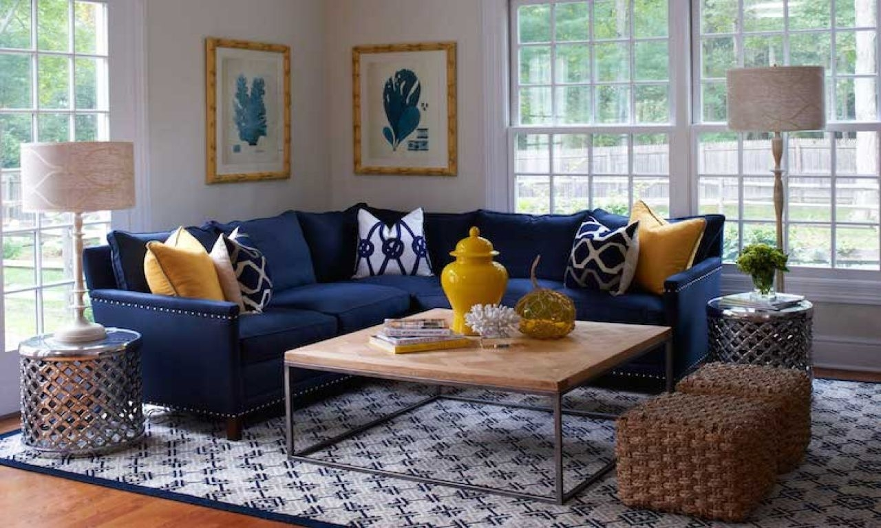 Navy Blue Sectional Sofa Navy Blue Sofa Decorating Ideas Yellow Navy Blue Sofa Living Room