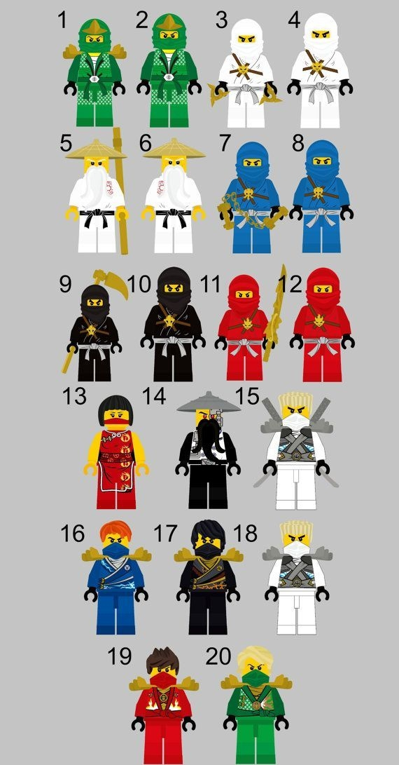 Ninjago Decor Cartoon Decor Boy'S Room Door Simplylovecreations  Festa De Aniversário De Lego