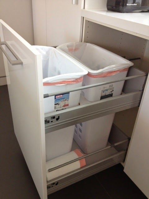 """Nonflimsy Full Height 24"""" Wide Recycling And Trash Cabinet  Ikea Hackers"""