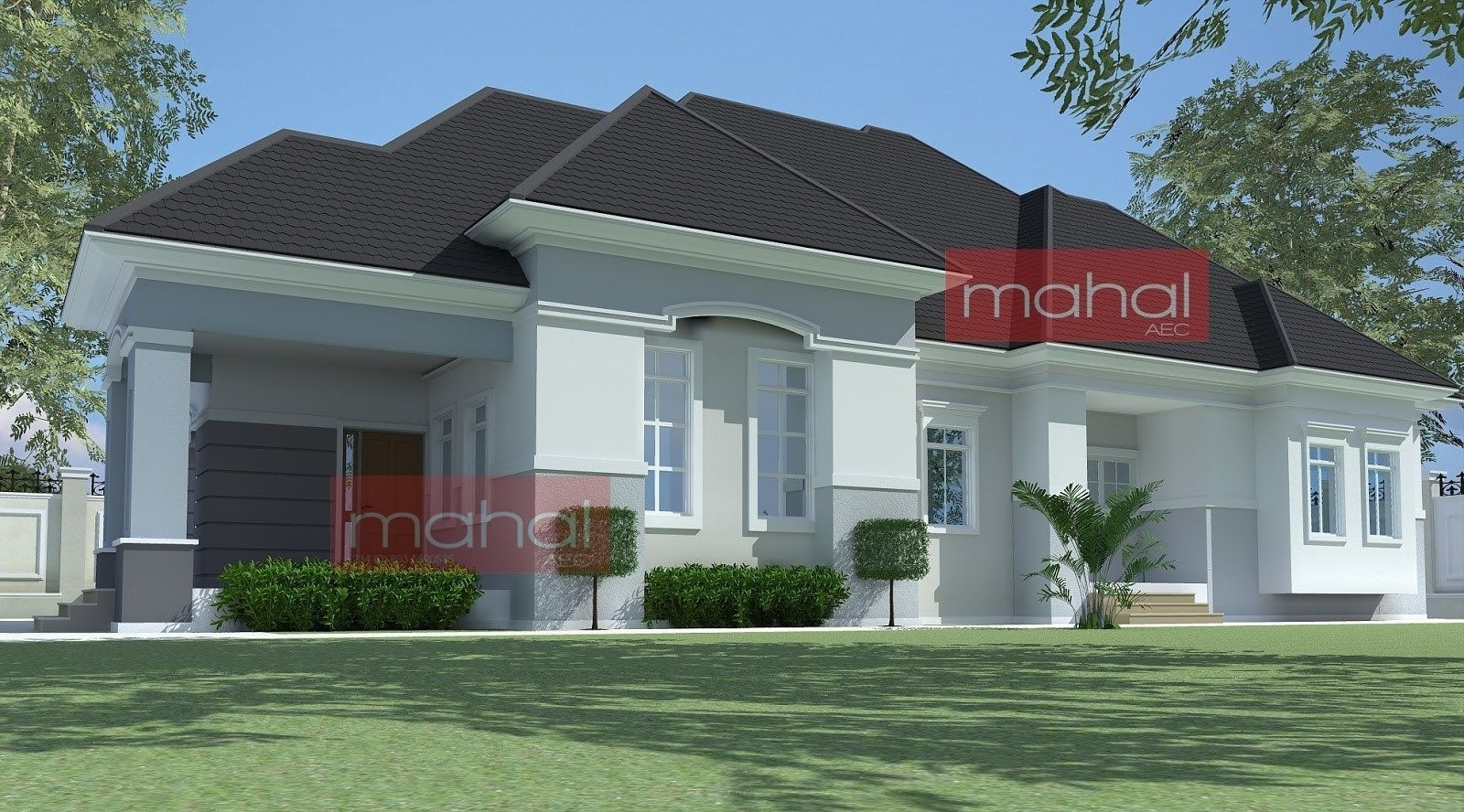 Plan In Nigeria 4 Bedroom Bungalow House Plans Nigerian Design Modern  Woody Nody