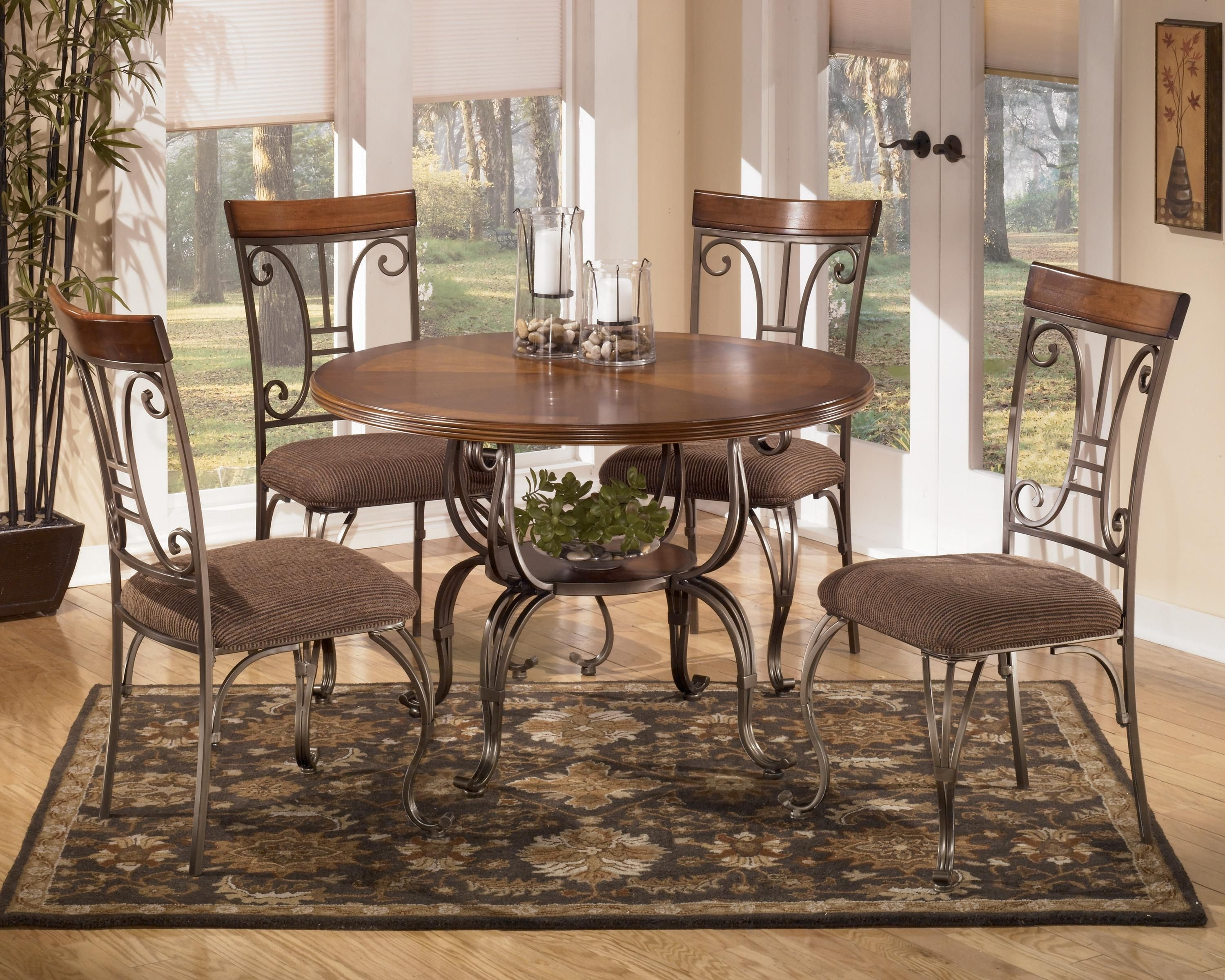 Plentywood 5Piece Round Dining Table Setsignature Designashley  Esszimmertisch Rund