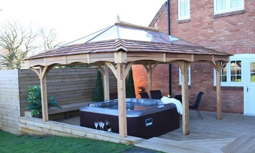 Rectangular 3M X 5M Gazebo  Gazebo Hot Tub Garden Outdoor Structures