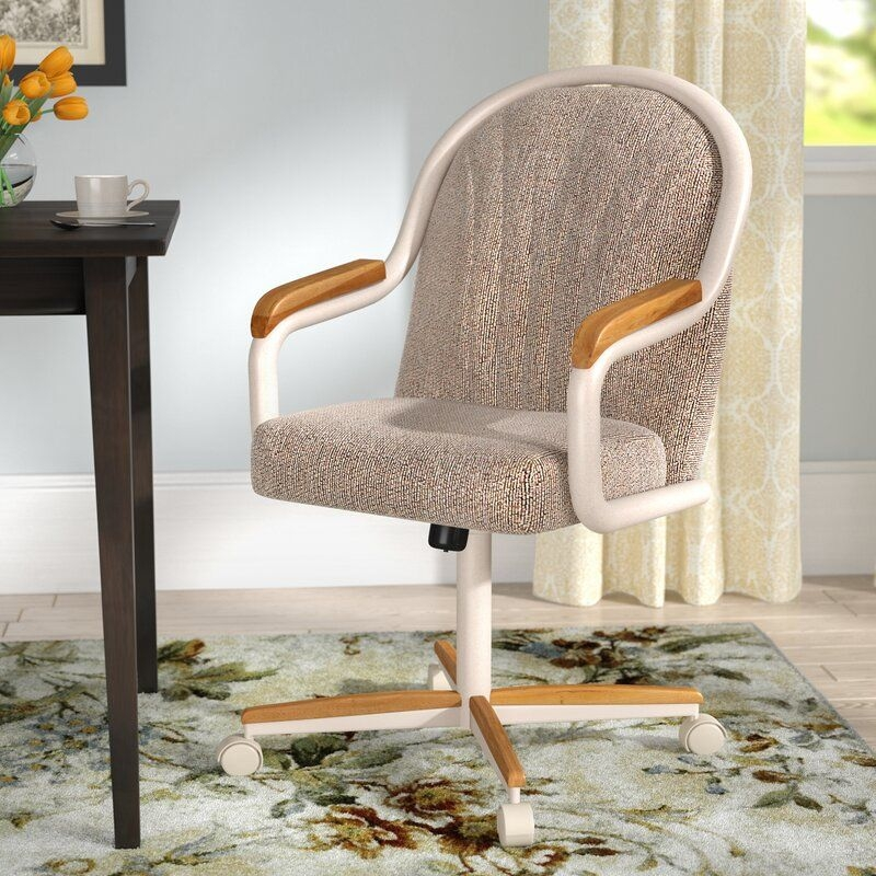Red Barrel Studio Gentry Midback Dining Caster Chair With Arms  Reviews  Wayfairca