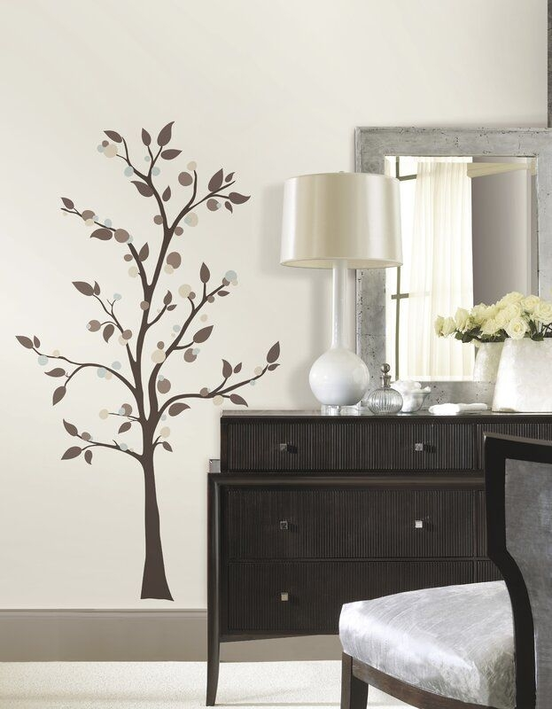 Room Mates Deco Mod Tree Peel And Stick Giant Wall Decal  Reviews  Wayfair
