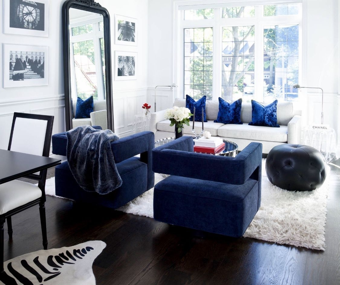 Royal Blue Living Room Chairs