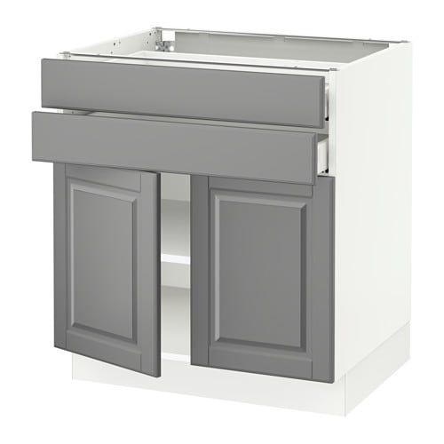 "Sektion Base Cabinet With 2 Doors2 Drawers  Ma Bodbyn Gray 30X24X30 ""  Ikea"