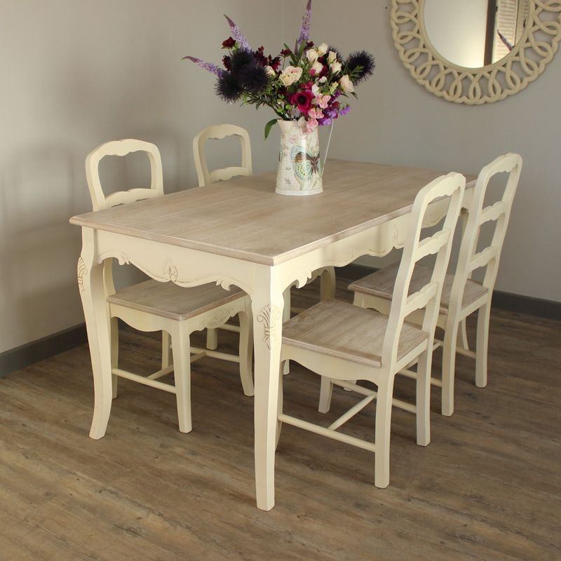 Set Of 4 Country Cream Dining Chairs  Country Ash Range  Melody Maison®