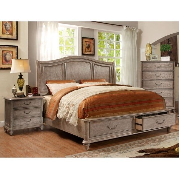 Shop Furniture Of America Minka Iii Rustic Grey 3Piece Bedroom Set  Free Shipping Today