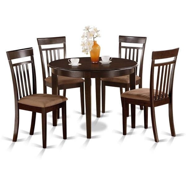Shop Small Round 5Piece Kitchen Table And 4 Dining Chairs  Free Shipping Today  Overstock