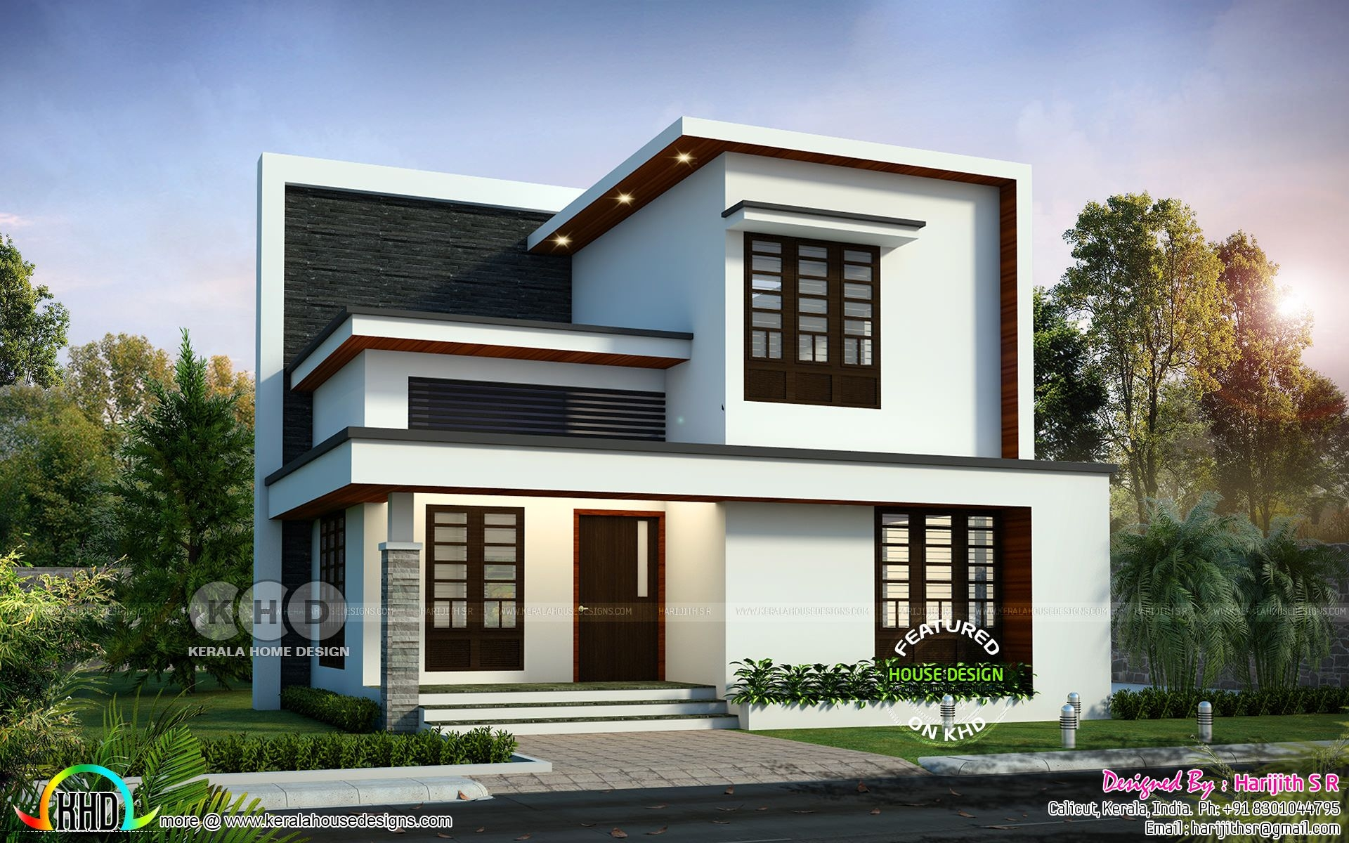 Simple Modern 4 Bedroom 1992 Sqft House Design  Kerala Home Design  Bloglovin'