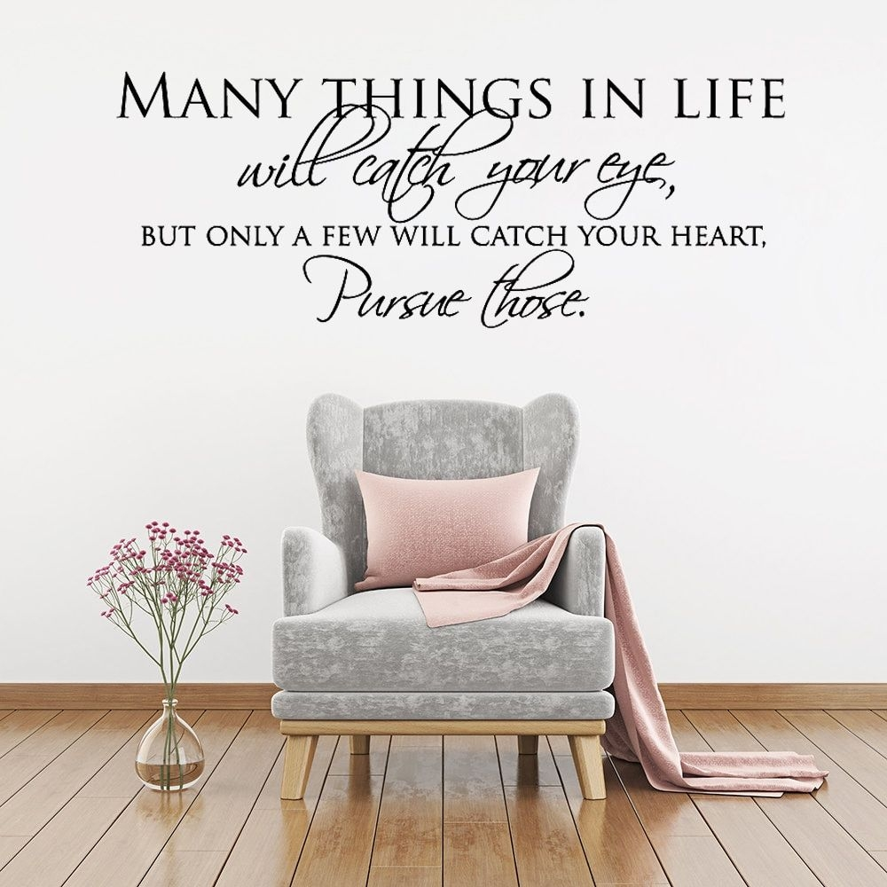 Simple Wall Stickers Text Many Things In Life Wall Sticker Quotes Inspiring Wall Art Decals