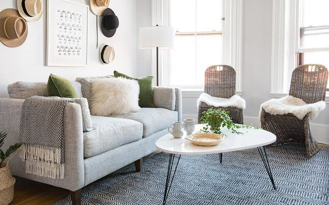 Smallspace Makeover A Bright Open Living Room  Wayfair  Wayfair Living Room Chairs Bright
