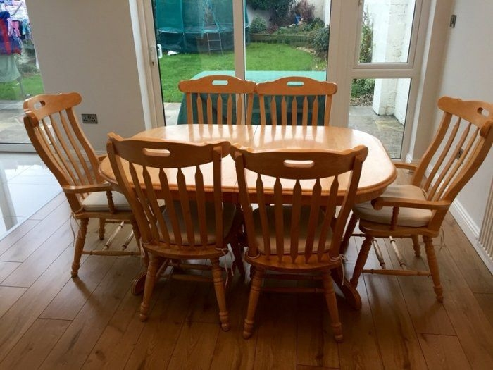 Solid Pine Kitchen Table And 6 Chairs For Sale In Artane Dublin From Boyler66